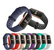 economico -Cinturino intelligente per Fitbit 1 pcs Cinturino sportivo Silicone Sostituzione Custodia con cinturino a strappo per Fitbit Charge 3 180-210 mm 140-170 mm