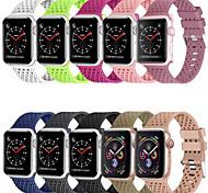 economico -Cinturino intelligente per Apple  iWatch 1 pcs Cinturino sportivo Chiusura classica Silicone Sostituzione Custodia con cinturino a strappo per Apple Watch Serie SE / 6/5/4/3/2/1 38 millimetri 40 mm