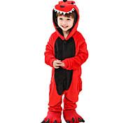 abordables -Pyjama Kigurumi Tenues de nuit Camouflage Dinosaure Combinaison de Pyjamas Molleton Rouge Cosplay Pour Garçons et filles Pyjamas Animale Dessin animé Fête / Célébration Les costumes