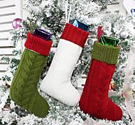 economico -sacchetto di caramelle calza natalizia forniture natalizie borsa regalo media lavorata a maglia ciondolo borsa regalo ornamenti albero di natale