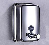 abordables -Distributeur de Savon Bouteille de désinfectant pour les mains presse Acier Inoxydable 500 ml