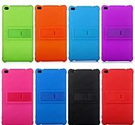 economico -telefono Custodia Per Lenovo Per retro Resistente agli urti Con supporto Tinta unica Silicone Gel di silice