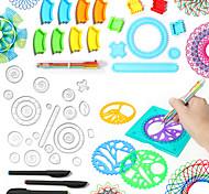 abordables -Jeu de Dessin Spirographe Thème classique Plastique souple Peinture Exquis Unisexe pour des cadeaux d'anniversaire ou des cadeaux
