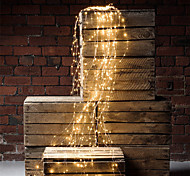 economico -10x2m 200 led luci di viti luci di rami di filo di rame 2 confezioni 1 confezione luci di stringa a cascata a led regalo di natale caffè decorazione della festa nuziale di natale adattatore plug-in