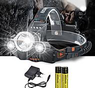 abordables -Lampes Frontales Phare Avant de Moto 10000 lm LED Émetteurs 4.0 Mode d'Eclairage avec Piles et Chargeur Contrôle d'angle Pour Véhicules Ultra léger Camping / Randonnée / Spéléologie Cyclisme Chasse