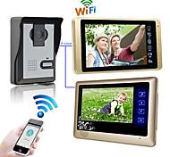 abordables -câblé& amp; portier vidéo sans fil 7 pouces mains libres 1024 * 600 pixels