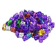 abordables -100pcs 6colors perles tresses de cheveux réglables perles de dreadlock anneaux de tresse manchette clips tubes bijoux