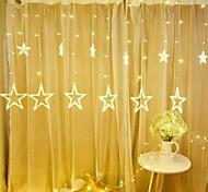 abordables -12 étoiles LED guirlande lumineuse 138 LED 2.5m 8.2ft ciel étoilé lampe rideau cascade lumières lanterne de glace guirlande de noël décor avec 8 modes flash étanche prise EU pour chambre à coucher