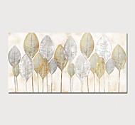 abordables -Peinture à l'huile Hang-peint Peint à la main Format Horizontal Abstrait Moderne Inclure cadre intérieur