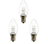 abordables -3 pièces 1 W Ampoules Bougies LED 20 lm E12 4 Perles LED LED Dip Décorative Blanc Chaud Blanc 100-240 V