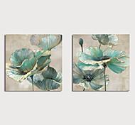 abordables -Peinture à l'huile Hang-peint Peint à la main Carré A fleurs / Botanique Moderne Inclure cadre intérieur