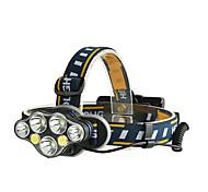 abordables -Lampes Frontales LED 7 Émetteurs Portable Ajustable Etanche Durable Camping / Randonnée / Spéléologie Usage quotidien Cyclisme Noir