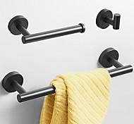 economico -Set di accessori per il bagno Creativo Moderno Acciaio inossidabile 3 pezzi - Bagno / Bagno dell'hotel Montaggio su parete