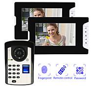 abordables -portier vidéo filaire 7 pouces mains libres 800 * 480 pixels