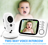 economico -baby monitor sensore di temperatura visione notturna baby sitter video wireless baby care con 3,2 pollici lcd 2 vie audio talk sorveglianza telecamera di sicurezza vb603