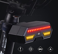 abordables -LED Eclairage de Velo Feux clignotants Feux stop Eclairage de Vélo Arrière VTT Vélo tout terrain Vélo Cyclisme Imperméable Induction intelligente Sans-Fil Commandée à Distance 85 lm Rechargeable USB