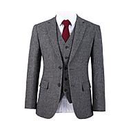 abordables -costume personnalisé en laine tweed starlight gris