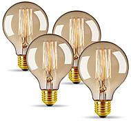 economico -4 pezzi 40 W E26 / E27 G80 Bianco caldo 2300 k Retrò / Oscurabile / Decorativo Lampadina a incandescenza vintage Edison 220-240 V