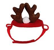 economico -Prodotti per cani Prodotti per gatti Ornamenti Accessori per la testa Tinta unita Cosplay Accessori per capelli Natale Feste Inverno Abbigliamento per cani Vestiti del cucciolo Abiti per cani Rosso