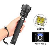 abordables -lampes de poche led tactique de poche xhp 70 120000 lumens torche zoomable rechargeable haute puissance super brillante résistant à l'eau 3 modes pour le camping lampes de poche d'urgence en plein air