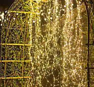 abordables -noël en plein air cascade guirlande lumineuse 10pcs x 2m 200led vignes branche led string fée lumière extérieure jardin clôture arbre led string fée branche lumière