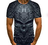 abordables -Homme T-shirt Chemise Graphique 3D Crânes Grandes Tailles Imprimé Manches Courtes Quotidien Hauts Chic de Rue Exagéré Col Rond Bleu Violet Rouge