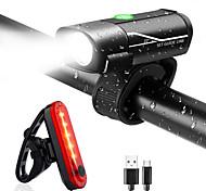 abordables -LED Eclairage de Velo Ensemble d'éclairage de vélo rechargeable Eclairage de Vélo Arrière Eclairage sécurité / feu clignotant velo XP-G2 VTT Vélo tout terrain Vélo Cyclisme Imperméable Modes