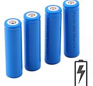 voordelige -Li-ion 18650 batterij 5000 mAh 4pcs 3.7 V Oplaadbaar Draagbaar voor Zaklantaarn Fietslicht Hoofdlampen Kamperen&Wandelen Jagen Vissen