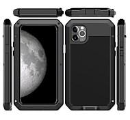 economico -telefono Custodia Per Apple Per retro iPhone 12 Pro Max 11 Pro Max iPhone 11 iPhone 11 Pro iPhone 11 Pro Max Resistente agli urti A prova di sporco Resistente all'acqua Armatura Metallo Alluminio