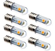 abordables -7 pièces 0.5 W Ampoules Maïs LED 15 lm E14 3 Perles LED SMD 5050 Décorative Blanc Chaud Blanc 100-240 V
