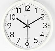 economico -orologio da parete silenzioso senza ticchettio - orologio al quarzo di qualità da 10 pollici a batteria tondo facile da leggere orologio da casa / ufficio / aula / scuola