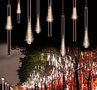 economico -2pacchi 30cm x8 16 luci a corde per tubi 288 led luci meteor meteoriche cadenti per la festa di natale decorazione per albero di natale impermeabile spina ue adattatore uk