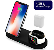 abordables -Chargeur Sans Fil Chargeur USB USB 5 A DC 9V / DC 5V pour Apple Watch Series 4 / Apple Watch Series 3 / Apple Watch Series 2 iPhone 11 / iPhone 11 Pro / iPhone 11 Pro Max