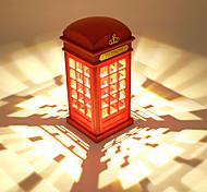 abordables -brelong retro rue téléphone cabine charge lampe de bureau rouge cabine téléphonique tactile lampe de bureau chevet veilleuse 1 pc