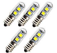 abordables -5pcs 1 W Ampoules Maïs LED 50 lm E14 7 Perles LED SMD 5050 Blanc Chaud Blanc 180-240 V