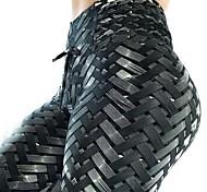 abordables -Femme Taille haute Pantalon de yoga Legging Contrôle du Ventre Lifting des fesses Séchage rapide Noir Aptitude Exercice Physique Fonctionnement Des sports Tenues de Sport Haute élasticité Slim Mince
