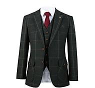 abordables -costume de laine tweed vert clair