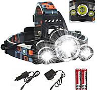 abordables -Lampes Frontales Phare Avant de Moto Imperméable Fonction Zoom 6000 lm LED Émetteurs 4.0 Mode d'Eclairage avec Chargeur avec Piles et Chargeur Imperméable Fonction Zoom Rechargeable Ultra léger