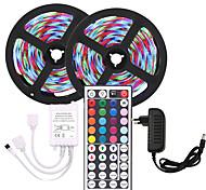 economico -kwb 10m luci a striscia flessibile a led set luci rgb luci tiktok 600 led smd2835 8mm 1 telecomando 44 tasti 1 alimentatore 12v 3a alimentatore natalizio tagliabile impermeabile di capodanno