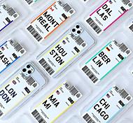 economico -telefono Custodia Per Apple Per retro iPhone 12 Pro Max 11 SE 2020 X XR XS Max 8 7 6 Resistente agli urti Transparente Cartoni animati Transparente Morbido TPU
