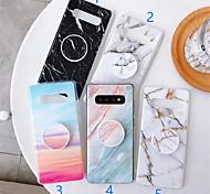 economico -telefono Custodia Per Samsung Galaxy Per retro S9 S9 Plus S8 Plus S8 Bordo S7 S7 A6 (2018) A6+ (2018) Nota 9 Nota 8 Con supporto Fantasia / disegno Effetto marmo TPU
