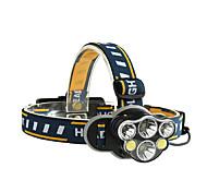 abordables -Lampes Frontales LED 6 Émetteurs Portable Ajustable Etanche Durable Camping / Randonnée / Spéléologie Usage quotidien Cyclisme Noir