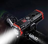 economico -LED Luci bici Luce frontale per bici luci di sicurezza Bicicletta Ciclismo Portatile Regolabili Duraturo Leggero Batteria al litio 500 lm Alimentazione USB Bianco Campeggio / Escursionismo