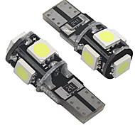 abordables -OTOLAMPARA Automatique LED Éclairage extérieur T10 Ampoules électriques 200 lm SMD 5050 5 W 5 Pour Universel Tous les modèles Toutes les Années 2 pièces