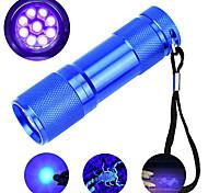 abordables -lampe de poche uv extérieure led lumières étanches extérieures 395nm 9 ledsportable mini petite lampe de détection de torche lumière violette torche noire
