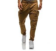 abordables -Homme Pantalons de Jogging Pantalon de Survêtement Pantalons / Surpantalons Joggings Vêtements de sport avec poche téléphone Cordon Coton Exercice Physique Séchage rapide Poids Léger Sport Couleur