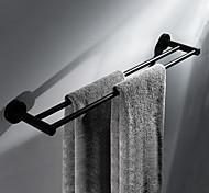 economico -portasciugamani multifunzione portasciugamani moderno in acciaio inox a doppia parete nero opaco 1pz