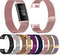 economico -Cinturino intelligente per Fitbit 1 pcs Cinturino a maglia milanese Acciaio inossidabile Sostituzione Custodia con cinturino a strappo per Fitbit Charge 3 L S