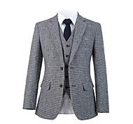 abordables -costume personnalisé en laine tweed pied de poule gris