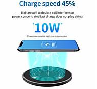 abordables -10 W Puissance de sortie Chargeur rapide Pad de chargement sans fil Chargeur Sans Fil Qi Invalide Pour Apple iPhone 12 11 pro SE X XS XR 8 Samsung Glaxy S21 Ultra S20 Plus S10 Note20 10 Airpods 1/2